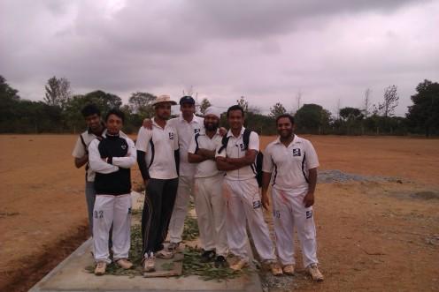 (L to R): Vishal, Joy, Kaustubh (C), Srikrishnan, Jugpreet, Shoukath, Bhargav(Not in pic) Goutham, Prithvik, Dinesh