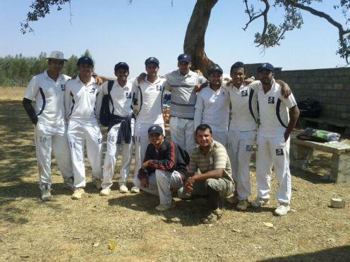 Standing (L to R): Gaurav R, Shoukath, GautamR, Jobin (VC), Gokul, Sumit, Kaustubh (C), GouthamSquatting (L to C): Joy, Prithvik, Dinesh