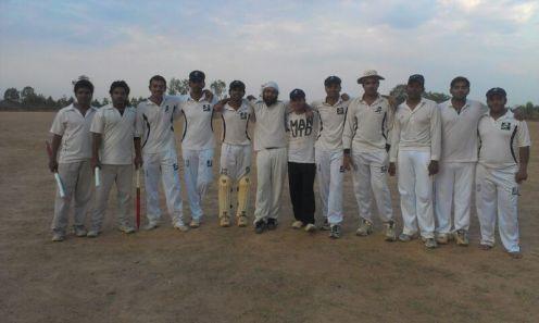 (L to R): Gautam R, Gaurav, Goutham, Badri, Muthu (WK)(VC), Jugpreet, Sumit, Yugank, Kaustubh (C), Gokul, Triya, Bhargav