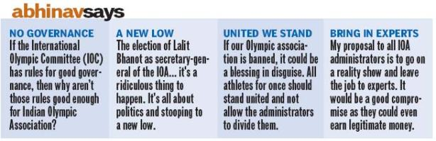 Bindra's recommendations to IOA