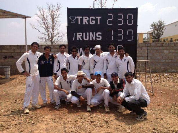 Standing (L to R): Goutham, Jobin (VC), Vivek, Gaurav, Muthu (WK),  Ashish, Shiva, GautamSquatting (L to R): Yugank, Kaustubh (C), Shoukath, Dinesh, Srikrishnan