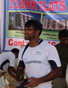 Lohith's 41 (20 balls) contained four fours and three sixes.