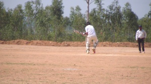 Srikant was out bowled as the ball rolled off his body on the stumps