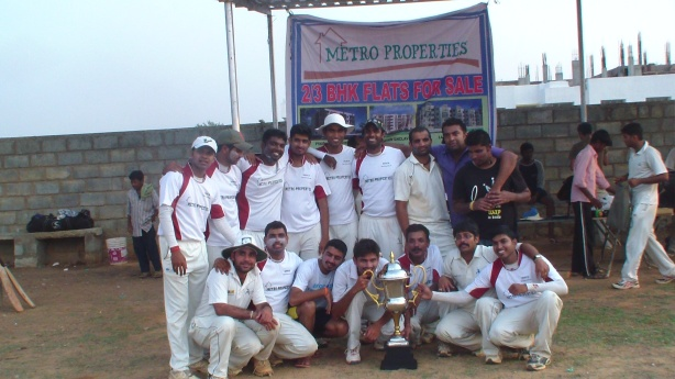 Wipro with the winners' trophy.