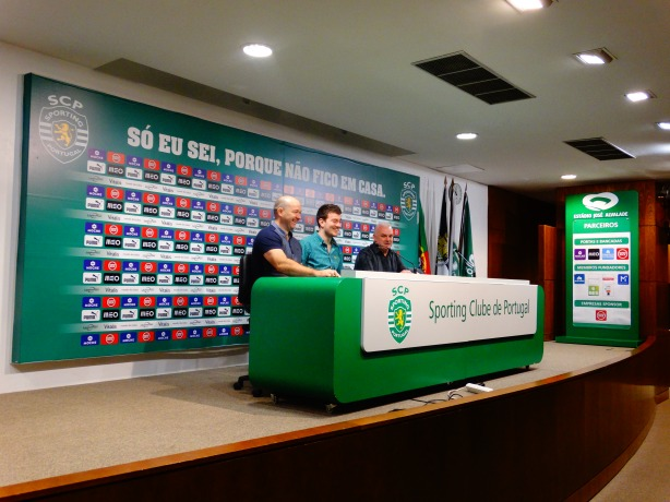 The Press Room at Estadio Jose Alvalade can seat up to 125 people