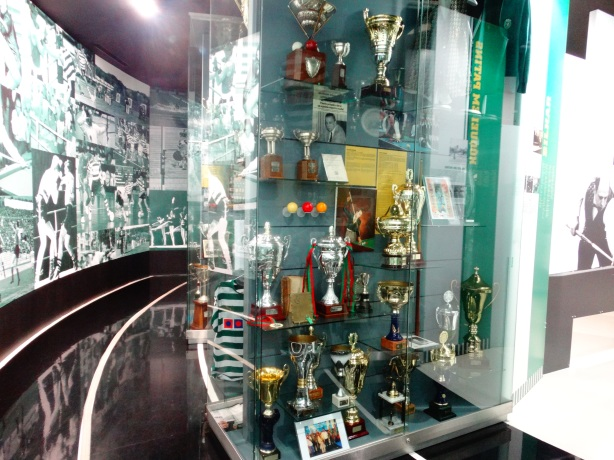 The Museum houses trophies won across multiple sports - Football, Futsal, Athletics, Handball