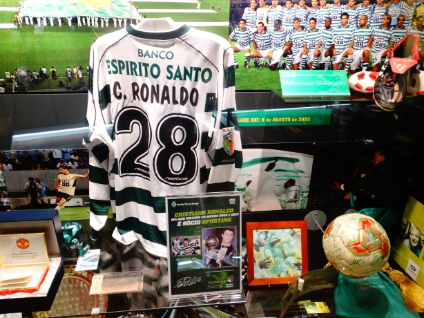 Cristiano Ronaldo played 25 games for Sporting CP, and wore the Number 28 Jersey