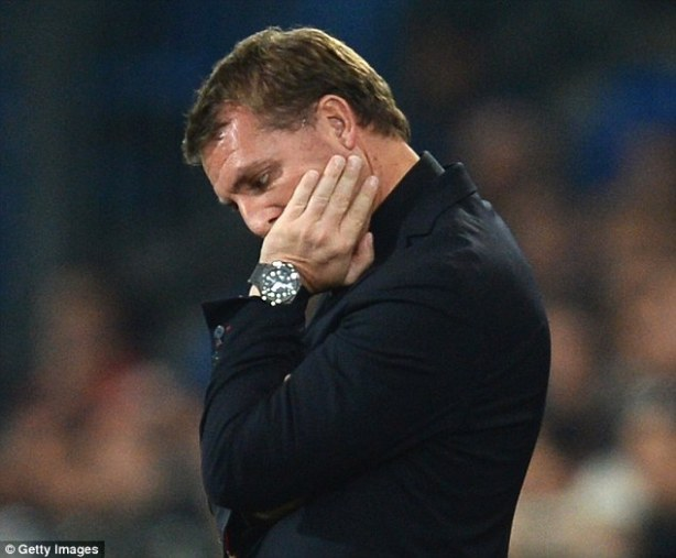 Out of ideas? A common sight these days with Brendan Rodgers
